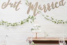 Hochzeitsdeko / Ideen und Inspirationen für Eure Hochzeit, Hochzeitsdekoration, Girlanden, Pom Poms, Wabenbälle, Tischdekoration, Luftballons, Candybar