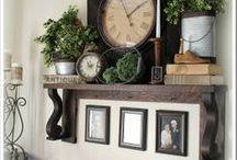 Fireplace Decor DIY / #Fireplace Screens,  Fireplace decorating .  This board  is dedicated for the many different styles of Fireplace screens, Vintage and Modern. Ideas welcome!  / by Rum Garden
