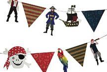 Piraten Party / Hier findet ihr süße Ideen, Pappgeschirr und Dekorationen für eure Piratenparty.