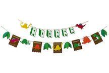 Dino Party / Hier findet ihr süße Ideen, Pappgeschirr und Dekorationen für eure Dinosaurierparty.