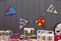 Super Hero Party / Hier findet ihr süße Ideen, Pappgeschirr und Dekorationen für eure Superhero Party.