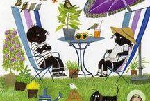 Zomer / Buiten spelen, spelletjes, strand, voorlezen, knutselen, smullen van zomerse hapjes en drankjes...... Het is zomer!