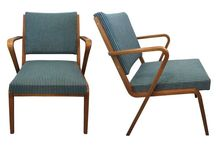 B.T. Meble - Meble (lata 50, 60, 70-te) / Möbel (die 50, 60, 70er Jahre) / Meble (lata 50-70-te) / Möbel (die 50-70er Jahre), klasyka PRLu, fotele / Sessel, krzesła / Stühle, Vintage, Retro, odnowione / restauriert
