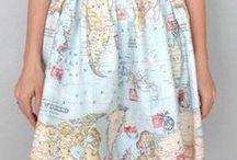 Map Skirts / Map skirts by Songbird www.songbirdfashion.com