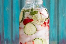 Drink up Goodness / My favorite drinks including tea, smoothies, and water infusions. Pretty drinks that make me happy.