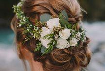 Brautfrisuren - wedding hair / Hier findet ihr viele Ideen und Inspirationen für eure Brautfrisur auf euerer Hochzeit oder zum Standesamt.