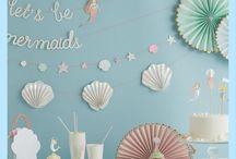 Meerjungfrau - Mermaid / Hier findet ihr süße Ideen, Pappgeschirr und Dekorationen für eure Meerjungfrauenparty.