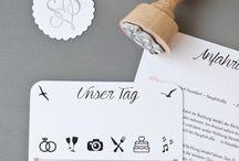 DIY wedding - Hochzeit / Hier findet ihr viele DIY und Bastelideen um eure Hochzeit zu dekorieren und zu gestalten.