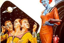 Space Oddity / Retro space art.
