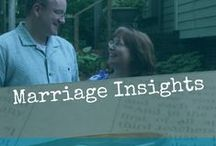 Marriage Insights / Husbands and wives need support and encouragement in their marriage - lots of great ideas.