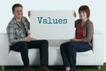 Values / Living by your Values in Business - in Life - in Relationships ---
