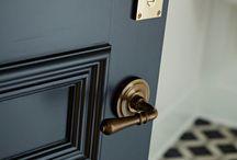 Antique Brass Door Handles & Hardware