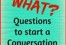 Questions to Ask: Start a Conversation! Group Board / Group Board: Resources which have questions to start a conversation - great for husbands and wives. Do you have a resource you'd like add? Like.  Then send a message to be added as a contributor - Let's share!