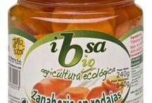 Conservas ecológicas IBSA / Ya puedes disfrutar de una amplia gama de productos Bio, elaborados con producto fresco cultivado de forma ecológica: salsa de tomate, pimientos asados, cebolla caramelizada, champiñones, guisantes, zanahoria...