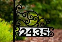 House Number Signs / These House Number Signs make a wonderful gift for special occasions – Mother's Day, Father's Day, birthdays, anniversaries, weddings, and housewarmings.  They are the ideal Christmas gift for your family and friends that can be so difficult to buy for -- give them a unique personalized gift they will always cherish!