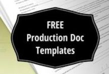Filmmaking Production Document Templates / Download production docs and release forms (PDF) - shot list template, call sheet template, talent release, location release, continuity and sound report, music release...