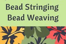 Tutorials - Bead Stringing and Bead Weaving / This board has been created to help jewelry designers who have an interest in learning how to string beads or weave beads; or, simply for inspiration. Tutorials provided by various fabulous resources.