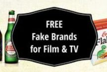 Fake Brands and Packaging for Filmmakers / Are you shooting on a scene that calls for branded products as props? The easiest way to avoid chain-of-title issues is to use fake brands, labels and packaging. We've decided to share some of our own creations FOR FREE to help you out. Just download, resize as needed and print out! #filmmaking