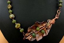 Jewelry - Necklaces, Pendants / A collection of necklaces and pendants created by talented jewelry artists from around the world. This jewellery was made from various materials including lampwork glass beads, gems, metals, cord and leathers.. #handmadejewelry