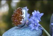 Jewelry - Rings / A collection of rings created by talented jewelry artists from various materials including lampwork glass beads, gems, metals, cord and leathers. #artiseverywhere
