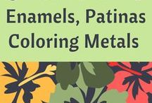 Tutorials - Enamel, Patina, Coloring Metals / This board has been created to help jewelry designers who have an interest in learning how to enamel beads, patina metals and color metals; or, simply for inspiration. Tutorials provided by various sources.