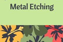 Tutorials - Metal Etching / This board has been created to help jewelry designers who have an interest in learning how to etch metal to create their own components for jewelry; or, simply for inspiration. Tutorials provided by various sources.