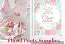Party supplies : Floral and shabby chic theme / Floral party supplies for a floral or shabby chic party or tea party including items featured on the Life's Little Celebrations blog with Life's Little Celebrations members: www.lifeslittlecelebrations.org