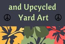 Garden Art and Upcyled Yard Art / This board has been created to inspire jewelry designers and other artists to stretch their imagination to a back yard creation. Beautify you yard with artisan glass decor, upcycled glass yard art created by hand.