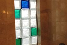 Glass Block Windows / Glass block windows can be fun & functional - see some cool new designs to dress up a basement, shower, kitchen or front door.