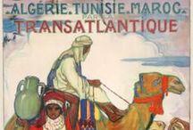 Posters Viagem ÁFRICA / Posters Vintage de Propaganda Turística do continente africano ao longo do sec. XX