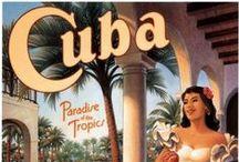 Posters Viagem CARIBE e AMERICA CENTRAL / Posters Vintage de Propaganda Turística dessa região ao longo do sec. XX