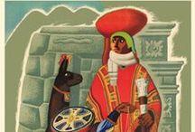 Posters Viagem AMÉRICA DO SUL / Posters Vintage de Propaganda Turística do continente sul americano ao longo do sec. XX