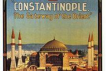 Posters Viagem ORIENTE MÉDIO / Posters Vintage de Propaganda Turística da Turquia, Israel e demais países dessa região ao longo do sec. XX