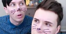 Came for the accent, stayed for the Existencial crisis / Me:'What is Spooky week?Hm oh these are those two guys.Why not watch it?' at half the vid 'Okay, so they're british af, that's pleasing...Hmm so there's the brown haired squish on the left who never shuts up, and there's the black haired cutie with the big blue eyes that always stare at the camera..,maybe one more vid' AND THEN IT HAPPENED SO FAST like I had an accelerated rewind of what happened from 2009 to present like It only took a month and now I have two adult children with fringes.#trash