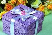 Crochet: baskets, covers
