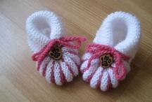 Crochet: baby booties