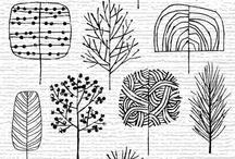 Kaarten maken: doodles, zentangles.