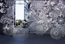 MePas (Metal Panels), since 2011 / Extremely light, finely engraved stainless steel plates to be employed as space dividers, decorative features or curtains mounted on tracks. The collection includes a variety of patterns and formats up to 50x300 cm.