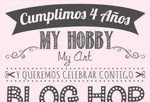 4o Aniversario My Hobby My Art / Celebra conmigo este 4o aniversario de My Hobby My Art. Hagamos nuestra fiesta virtual!