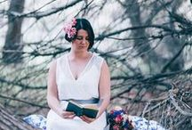 {BN Styled Shoot} Through the Clearing / Concept, Styling & Flowers: Botanica Naturalis Model: Freya Daisy Bridal gown: Through The White Door Vintage furniture: Little Love Story Event Hire Head piece: Olive Farm Designs