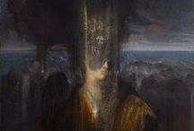 The Symbolic Nature of Agostino Arrivabene / Agostino Arrivabene is a masterful and visionary painter from the italian countryside. He paints using ground pigments and many other traditional working methods that yield themselves to a timelines nature. This is a world of symbols, ancient landscapes and psychological probing that is Arrivabene's own.