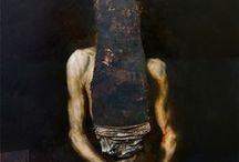 Nicola Samorì, Dark Baroque / Nicola Samorì creates works of dark beauty and baroque drama. His paintings are gouged, distorted, melted and destroyed. This act of destruction is so deliberate and contrasting to the works of painterly skill beneath that it can almost be seen as violent.