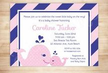 Preppy Whale Baby Shower / Preppy Whale Baby Shower theme for nautical baby boy and baby girl showers!