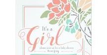 Floral Baby Shower / Pretty Floral Baby Shower ideas, party decor, shower games, stationery and more!