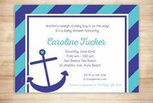 Nautical Baby Shower / Ocean/water-themed baby showers!