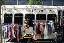 Mobile Vintage Boutique Inspiration / Ideas for creating whimsical, colorful and temporary vintage shop displays. I used many of these ideas at Vintanthromodern Vintage's brick and mortar shop in New Haven, Connecticut and at pop-ups across the state in the Vintanthromobile mobile boutique. Mobile vintage boutiques are so cool! Look for a shop on wheels near you! / by VINTANTHROMODERN VINTAGE