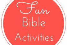 Bible Activities for Kids / Fun and learning Bible activities for kids.