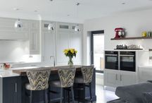 Classic Contemporary / This sociable family kitchen is extremely stylish, functional and most importantly, it reflects our client's love of classic contemporary design!