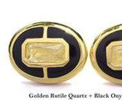 Cufflinks Prestige Model - Elite & Luck Cufflinks / Elite & Luck Cufflinks Prestige Model. Luxury Gemstone Sterling Silver Cufflinks that enhance your Elite, Luck, Love, Wealth, etc.