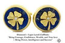 Cufflinks Lucky Model - Elite & Luck Cufflinks / Elite & Luck Cufflinks Lucky Model. Luxury Gemstone Sterling Silver Cufflinks that enhance your Elite, Luck, Love, Wealth, etc.